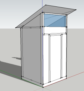 Our passive solar composting toilet design.